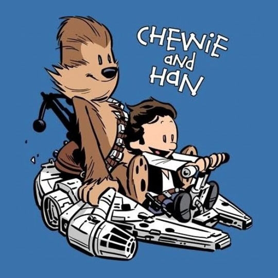 calvin hobbes han and chewie